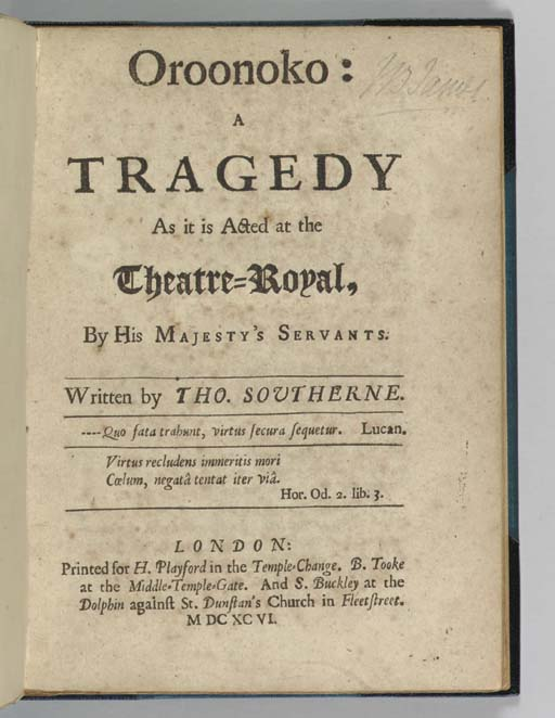 SOUTHERNE, Thomas (1660-1746).