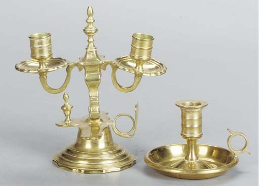 A GROUP OF BRASS TABLEWARES,