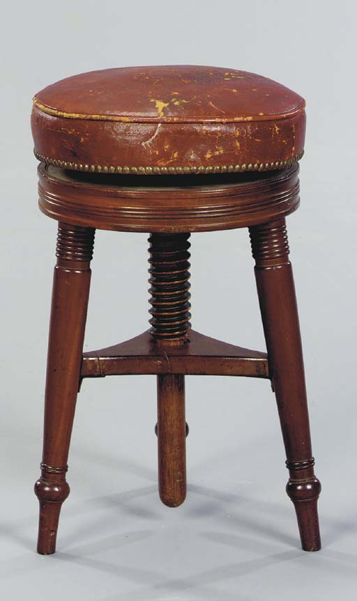 A FEDERAL MAHOGANY PIANO STOOL