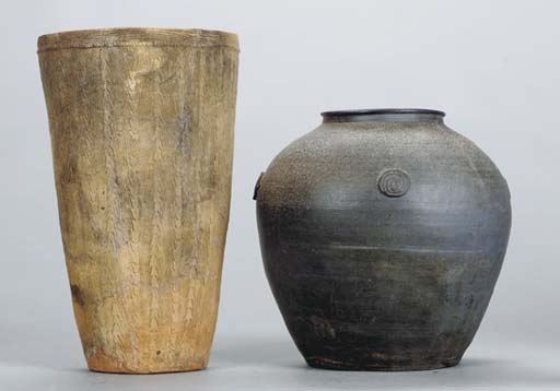 A GROUP OF ASIAN EARTHENWARE T