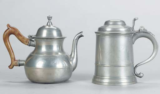 A GROUP OF PEWTER TABLE ARTICL