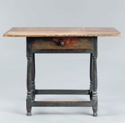 A PAINTED WOOD STRETCHER BASE
