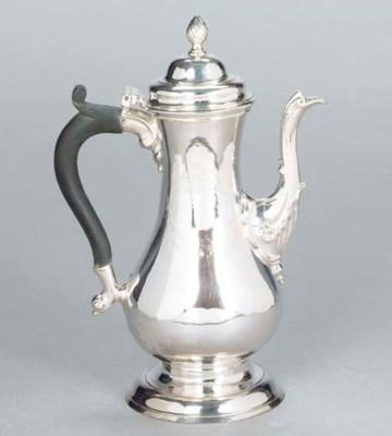 A GEORGE III SILVER SMALL COFF
