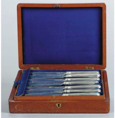 A GROUP OF ENGLISH SILVER SERV