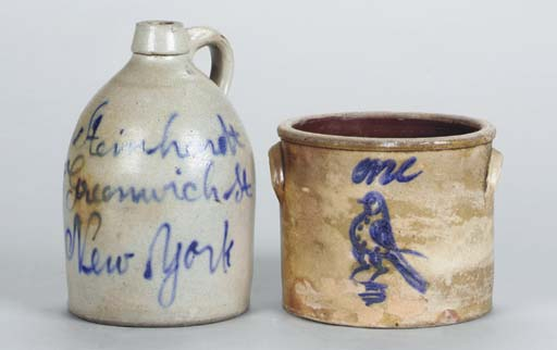 A GROUP OF STONEWARE ARTICLES,