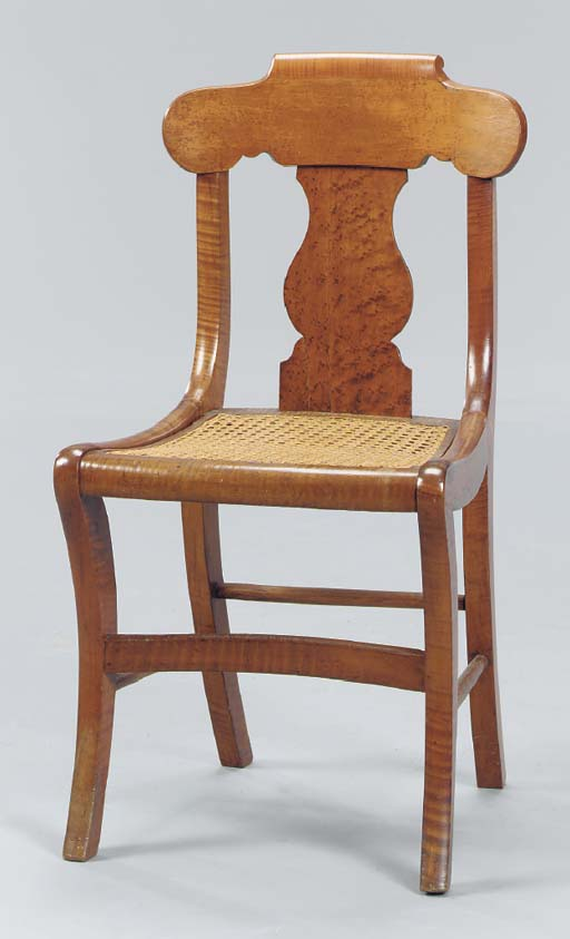A CLASSICAL MAPLE SIDE CHAIR W