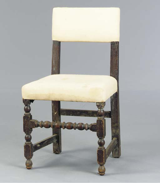 A JACOBIAN STYLE UPHOLSTERED B