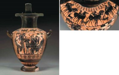 AN ATTIC BLACK-FIGURED HYDRIA