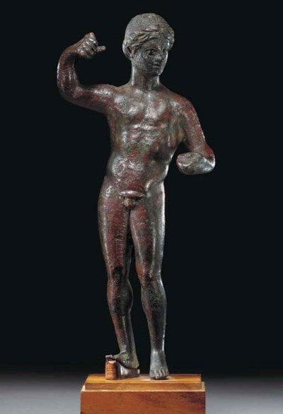 A GREEK BRONZE GOD or YOUTH