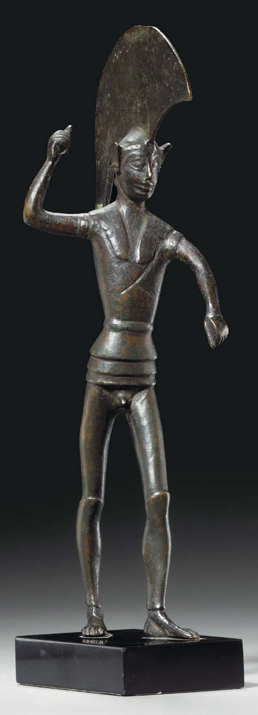 AN ETRUSCAN BRONZE WARRIOR