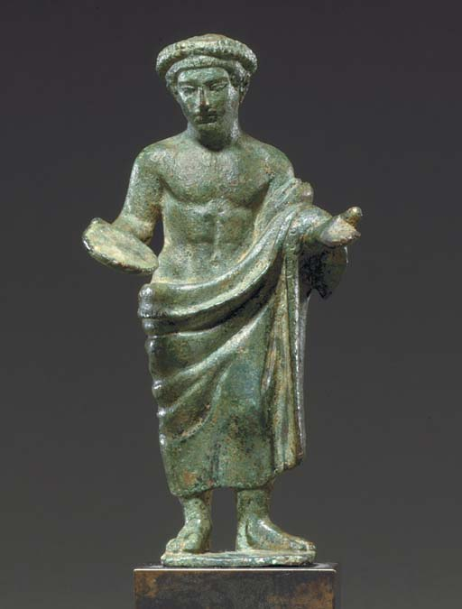 AN ETRUSCAN BRONZE YOUTHFUL VO