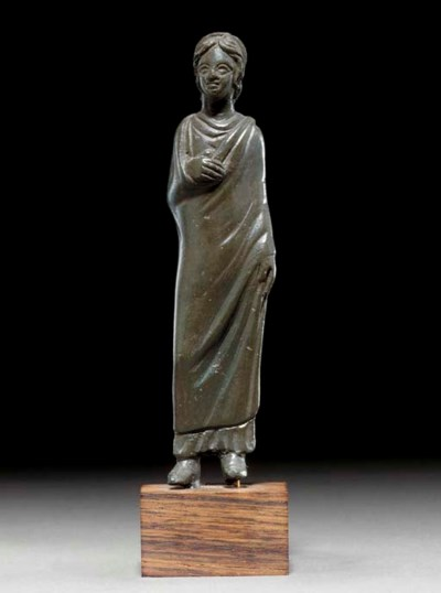 AN ETRUSCAN OR ITALIC BRONZE Y