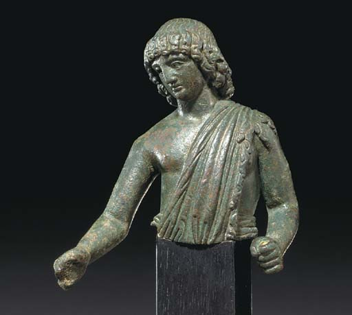 A ROMAN BRONZE YOUTH