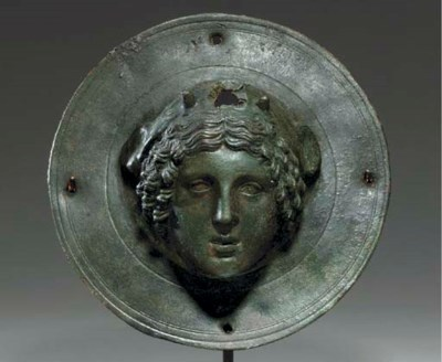 A ROMAN BRONZE SHIELD BOSS