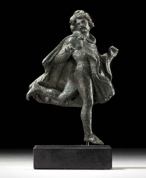 A ROMAN BRONZE RUNNING GAUL