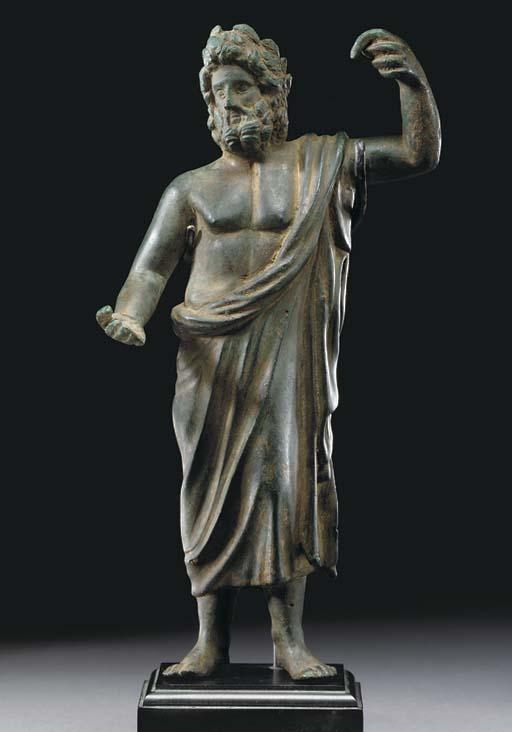A ROMAN BRONZE JUPITER