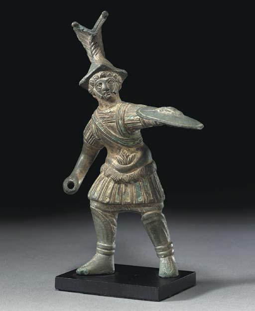 A ROMAN BRONZE SOLDIER