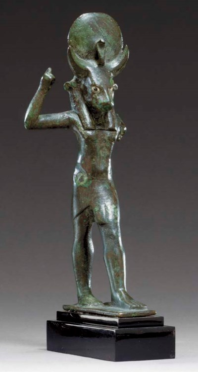 AN EGYPTIAN BRONZE MNEVIS