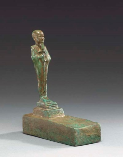 AN EGYPTIAN BRONZE PTAH