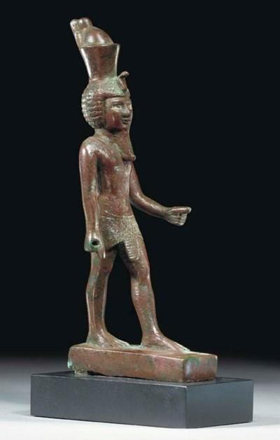 AN EGYPTIAN BRONZE NEFERHOTEP