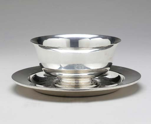 AN AMERICAN SILVER TRAY,