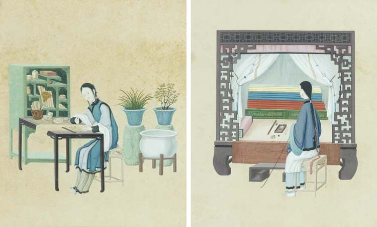 TWO CHINESE PAINTINGS,