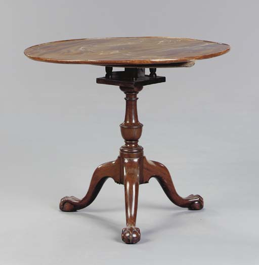 A CHIPPENDALE STYLE MAHOGANY T