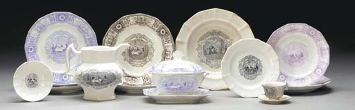 A group of china for the Bosto