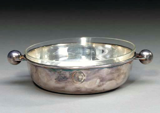 A stering silver butter dish w