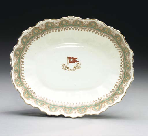 A china serving bowl with scal