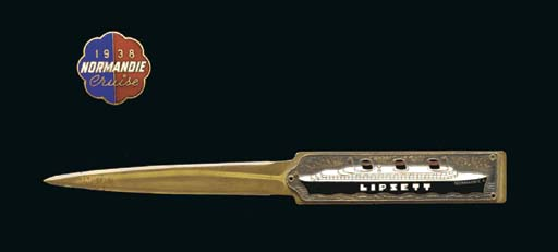An enamel letter opener from t