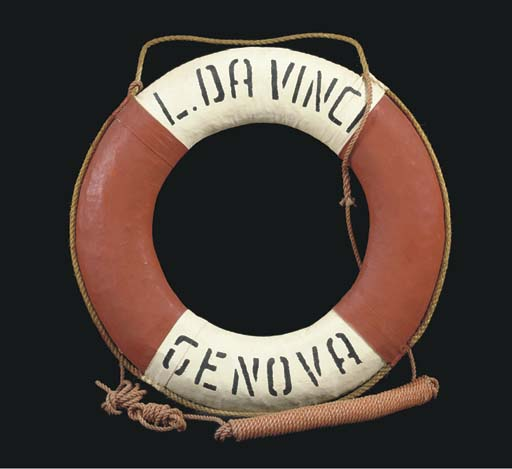 A life ring from the S.S. Leon