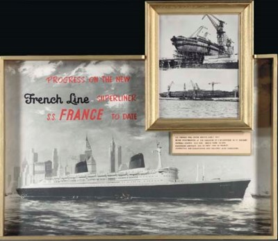 A rare French Line promotional