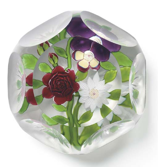 A BACCARAT FACETED BOUQUET WEI
