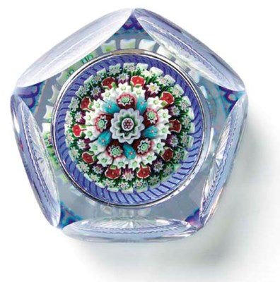 A BACCARAT FACETED CONCENTRIC