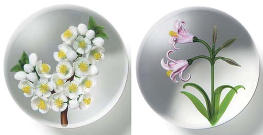 TWO RANDALL GRUBB FLOWER WEIGH