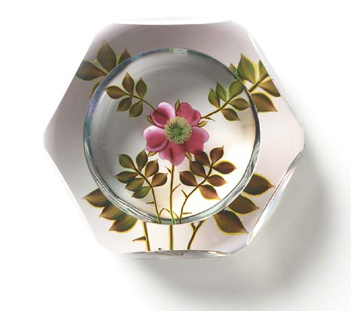 A PAUL STANKARD FACETED FLOWER