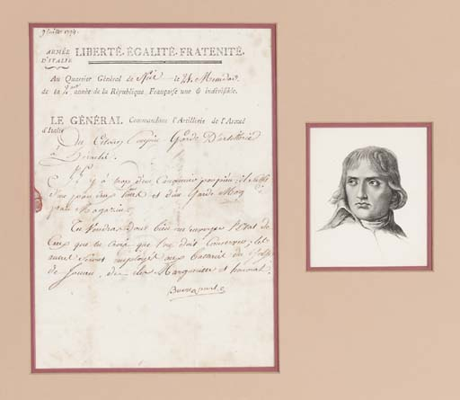 NAPOLEON BONAPARTE. Letter sig