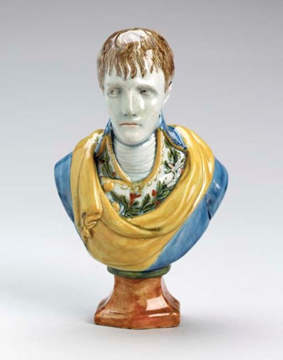 A PEARLWARE PORTRAIT BUST OF N