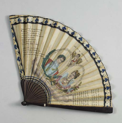 A NAPOLEONIC COMMEMORATIVE FAN