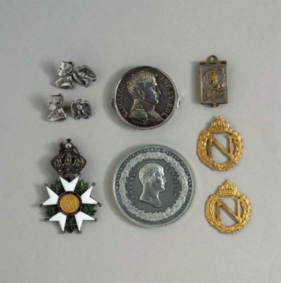 A GROUP OF ENAMELED MEDALS AND