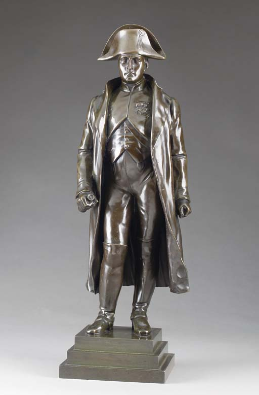 A PATINATED FULL LENGTH BRONZE