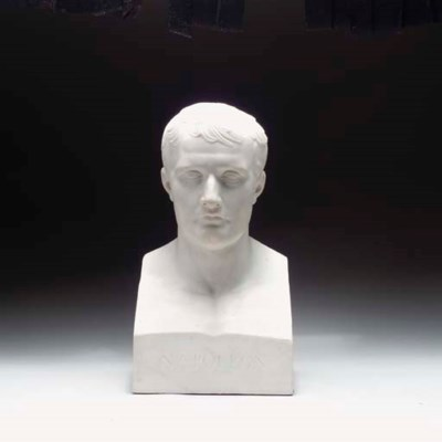 A CARVED MARBLE PORTRAIT BUST