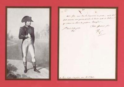 NAPOLOEON BONAPARTE. Letter si