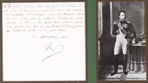 NAPOLOEON BONAPARTE.  Letter s