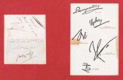 NAPOLEON BONAPARTE. Two autogr