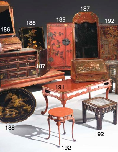 DEUX TABLES BASSES EN LAQUE