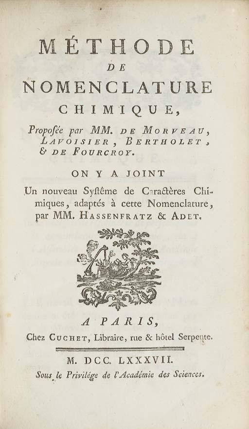 LAVOISIER, Antoine Laurent de