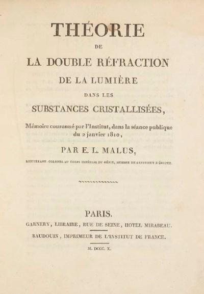 MALUS, Etienne Louis (1775-181