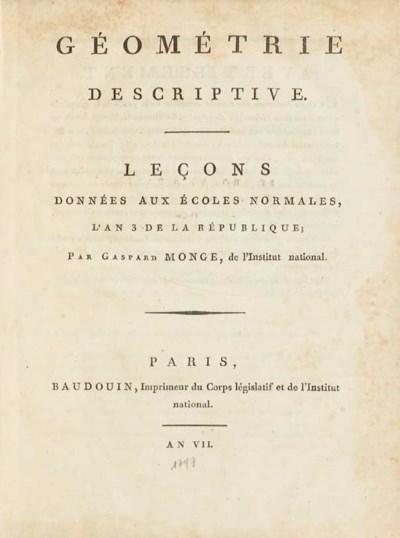 MONGE, Gaspard (1746-1818). Gé